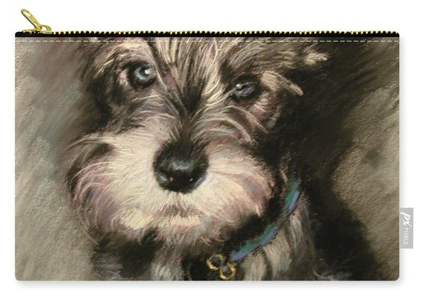 Dog In Blue Collar Carry-all Pouch