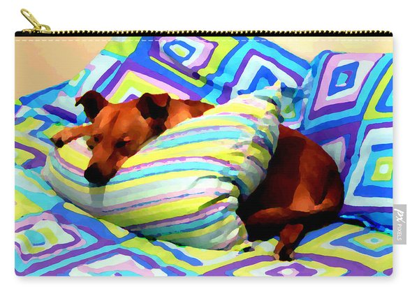 Dog Nap - Oil Effect Carry-all Pouch