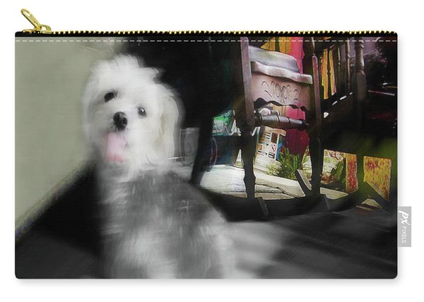 Dogie In The Patio Art  Carry-all Pouch