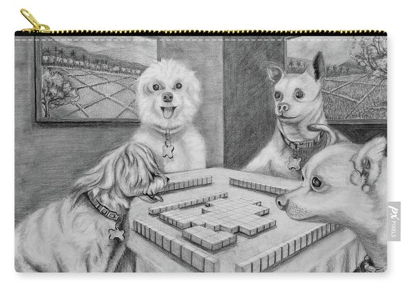 Dogs Playing Mahjong Carry-all Pouch