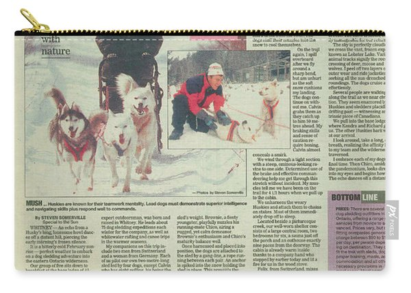 Dogsledding Travel Article Toronto Sun Carry-all Pouch