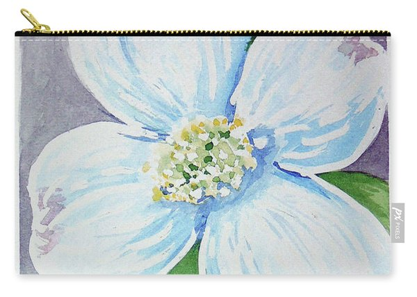 Carry-all Pouch featuring the painting Dogwood Bloom by Loretta Nash