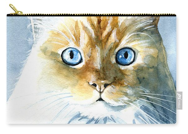 Doll Face Flame Point Himalayan Cat Painting Carry-all Pouch