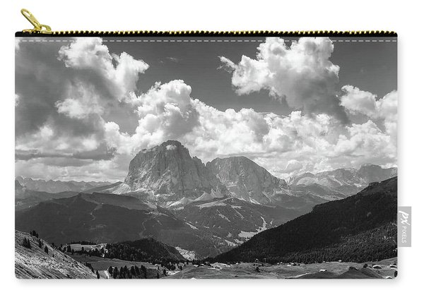 Dolomites Black And White Carry-all Pouch