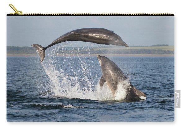 Dolphins Having Fun Carry-all Pouch