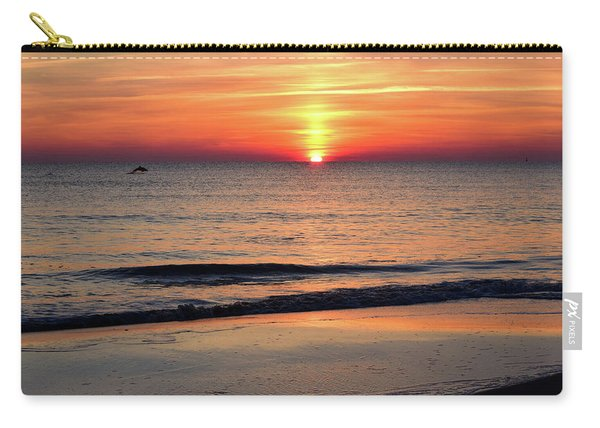 Dolphin Jumping In The Sunrise Carry-all Pouch