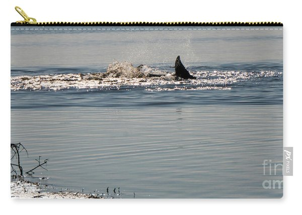 Dolphin Tail In The Water Carry-all Pouch