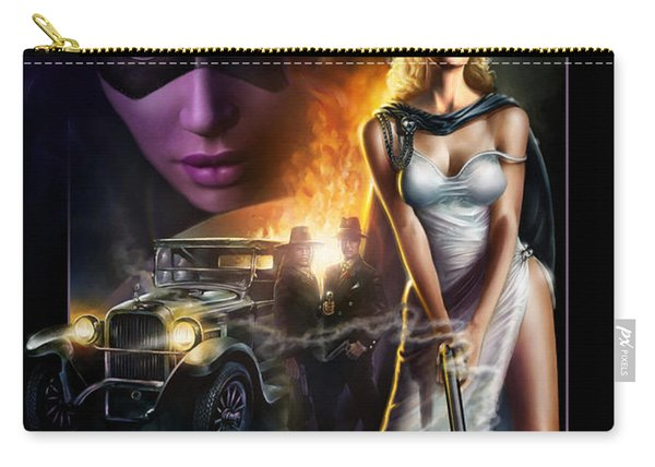 Domino Lady Carry-all Pouch