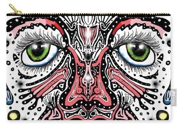 Doodle Face Carry-all Pouch