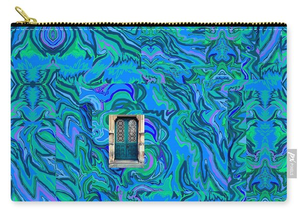 Doorway Into Multi-layers Of Water Art Collage Carry-all Pouch