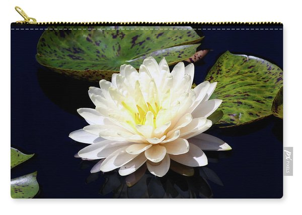 Dotty White Lotus And Lily Pads 0030 Dlw_h_2 Carry-all Pouch