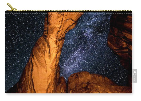 Double Arch And The Milky Way - Utah Carry-all Pouch