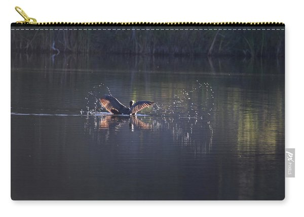 Carry-all Pouch featuring the photograph Double Crested Cormorant by Margarethe Binkley