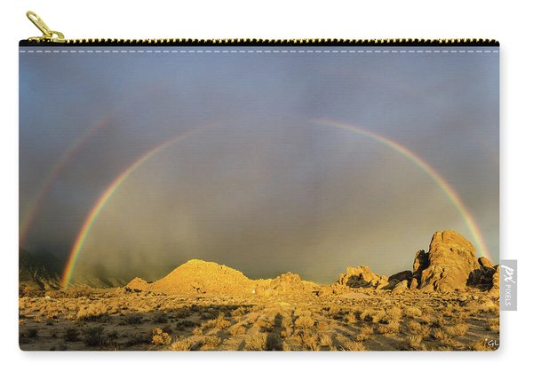 Double Rainbow Gold Carry-all Pouch