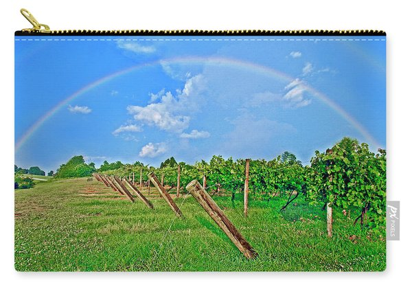 Double Rainbow Vineyard, Smith Mountain Lake Carry-all Pouch