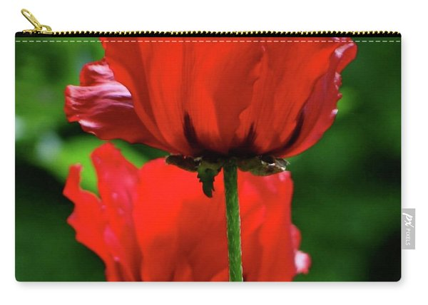 Double Red Poppies Carry-all Pouch