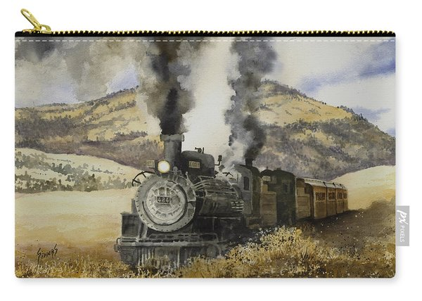 Double Teamin To Cumbres Pass Carry-all Pouch