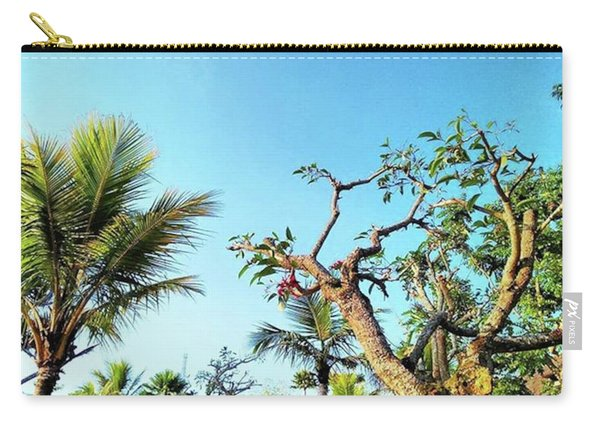 Tree And Blue Sky Carry-all Pouch