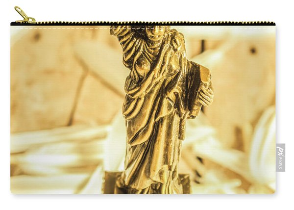 Dove Feathers And American Landmarks Carry-all Pouch