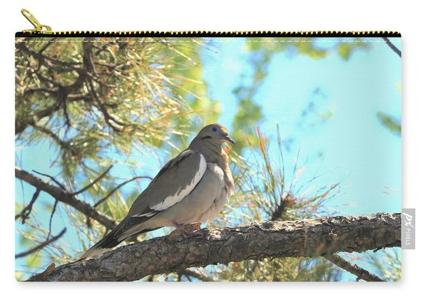 Dove In Pine Tree Carry-all Pouch