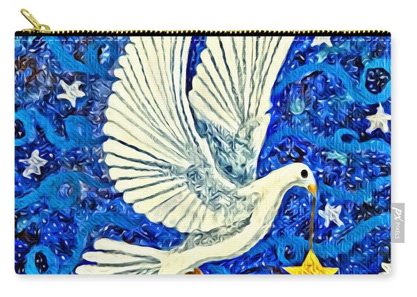 Dove With Star Carry-all Pouch