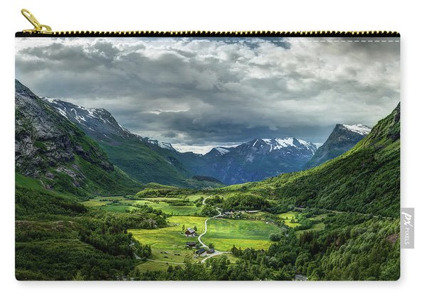Carry-all Pouch featuring the photograph Down In The Valley by Dmytro Korol