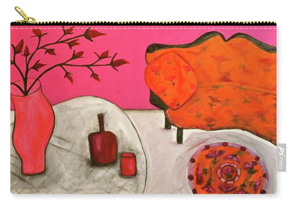 Down The Stairs Into The Living Room  By Paul Paucciarelli  Carry-all Pouch