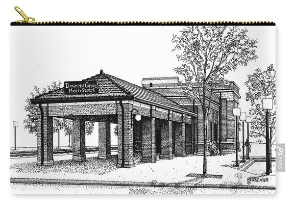 Downers Grove Main Street Train Station Carry-all Pouch