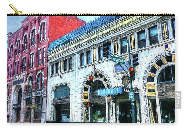 Downtown Asheville City Street Scene Painted  Carry-all Pouch