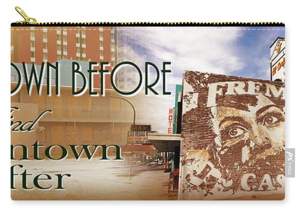 Downtown Before And Downtown After Carry-all Pouch