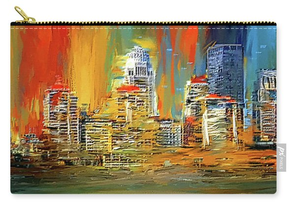 Downtown Louisville - Colorful Abstract Art Carry-all Pouch