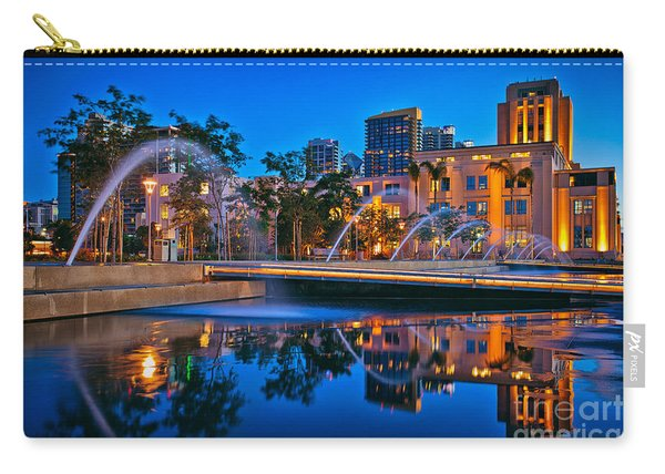 Carry-all Pouch featuring the photograph Downtown San Diego Waterfront Park by Sam Antonio Photography