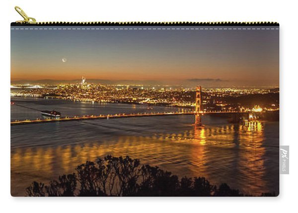 Downtown San Francisco And Golden Gate Bridge Just Before Sunris Carry-all Pouch