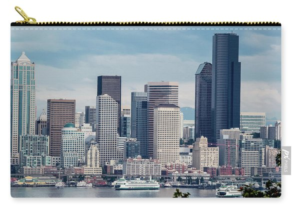 Downtown Seattle And Ferries Carry-all Pouch