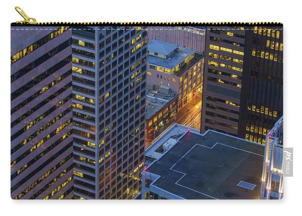 Downtown Seattle Buildings Details Carry-all Pouch
