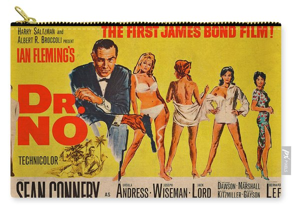 Dr No James Bond Sean Connery Vintage Movie Poster Carry-all Pouch