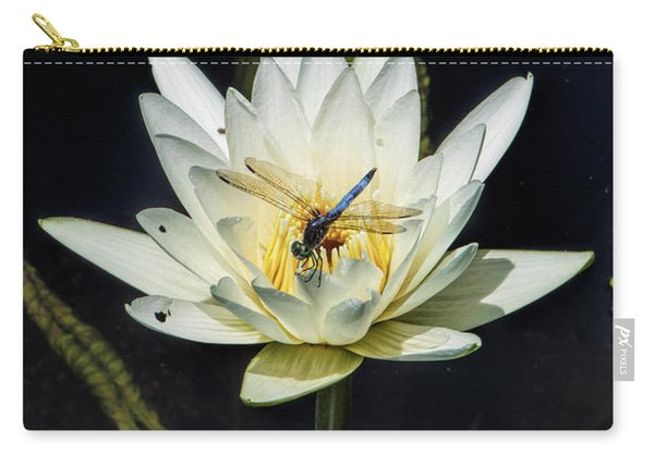 Dragon Fly On Lily Carry-all Pouch
