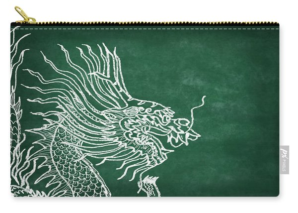 Dragon On Chalkboard Carry-all Pouch
