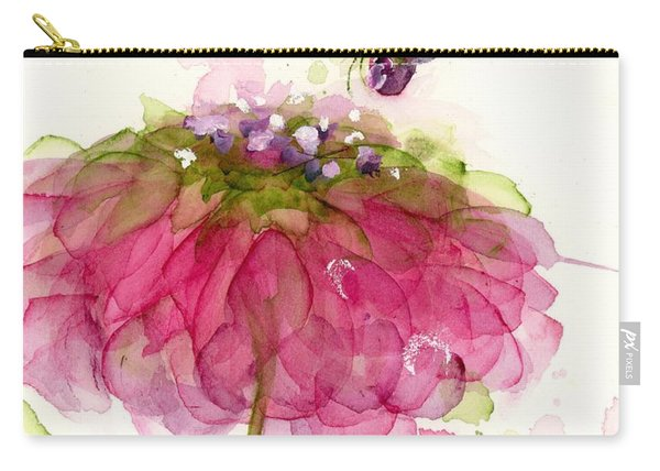 Dragonfly And Zinnia Carry-all Pouch