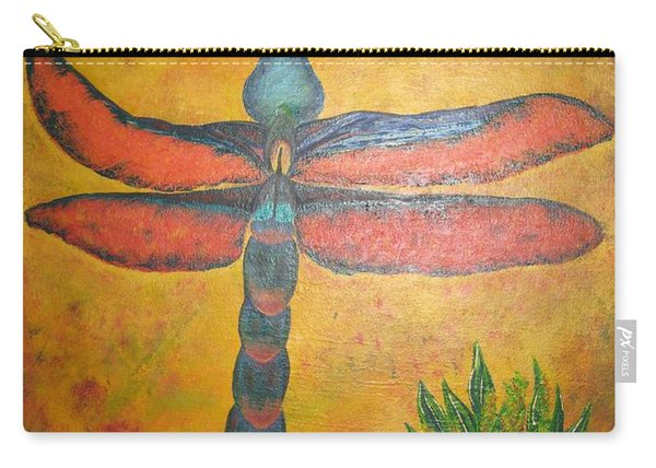 Dragonfly In Flight Carry-all Pouch