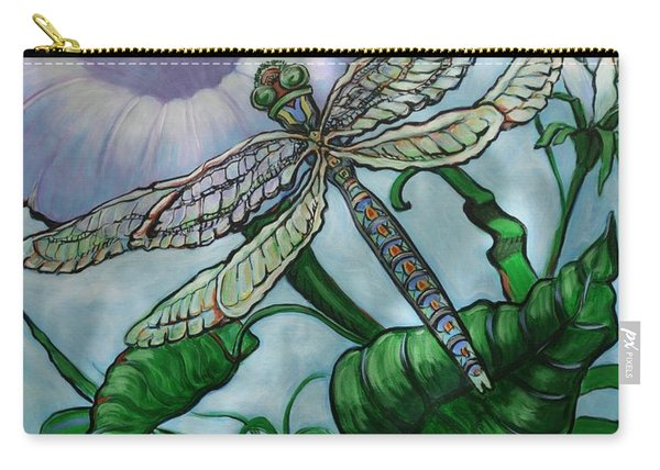 Dragonfly In Sun Carry-all Pouch