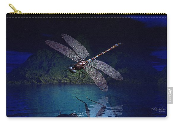 Dragonfly Night Reflections Carry-all Pouch