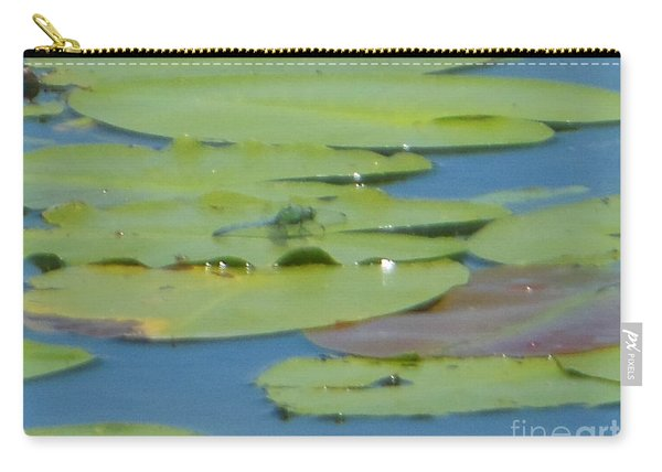 Dragonfly On Lily Pad Carry-all Pouch