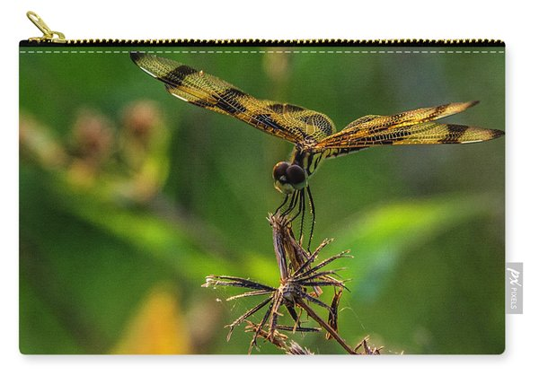 Dragonfly Resting On Flower Carry-all Pouch