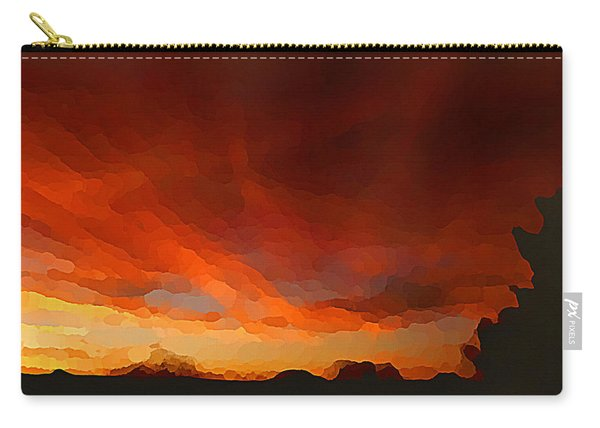 Drama At Sunrise Carry-all Pouch