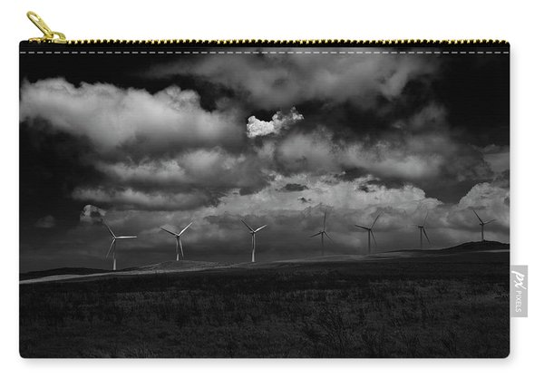 Drama In Black And White Carry-all Pouch