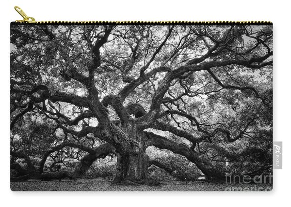 Dramatic Angel Oak In Black And White Carry-all Pouch