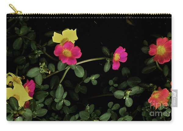 Dramatic Colorful Flowers Carry-all Pouch