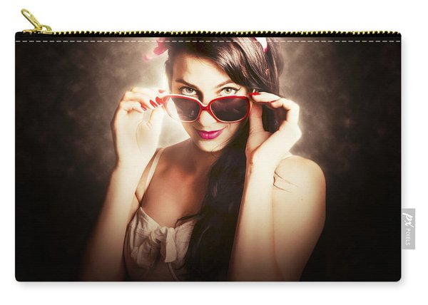 Dramatic Pin Up Fashion Photograph Carry-all Pouch
