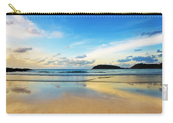 Dramatic Scene Of Sunset On The Beach Carry-all Pouch